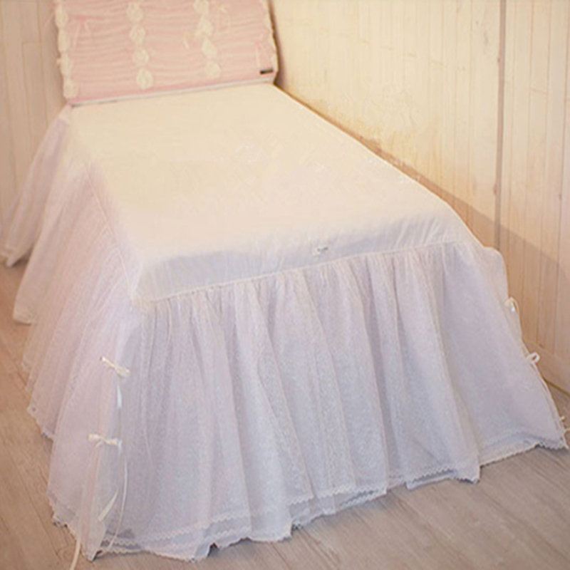 1piece princess bedding luxury fitted sheet sweet lace yarn bed skirt bedroom bedspread  ...