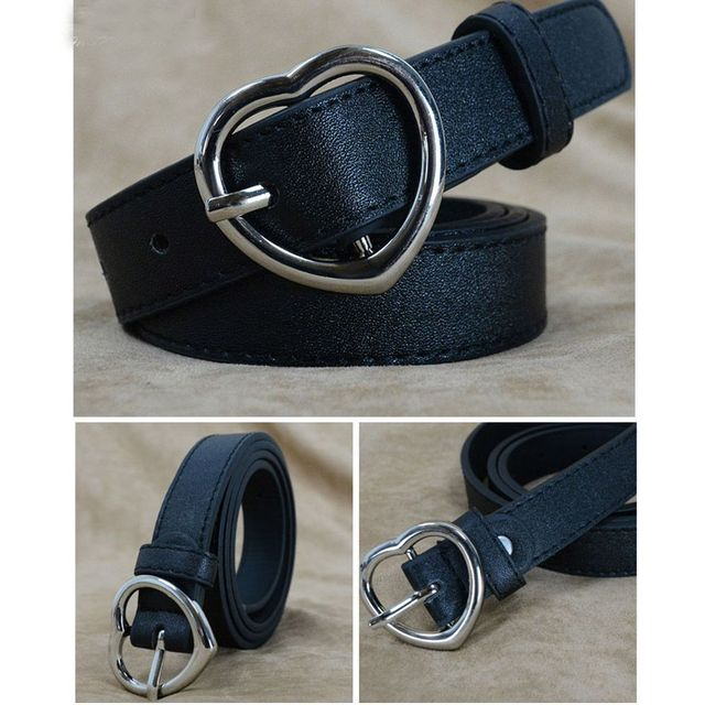 abe2c8558b 2018 nueva moda corazón hebilla Cinturones Mujer correa de cuero cinturones  caliente estudiante lindo regalos cinturón. Sitúa el cursor encima para ...