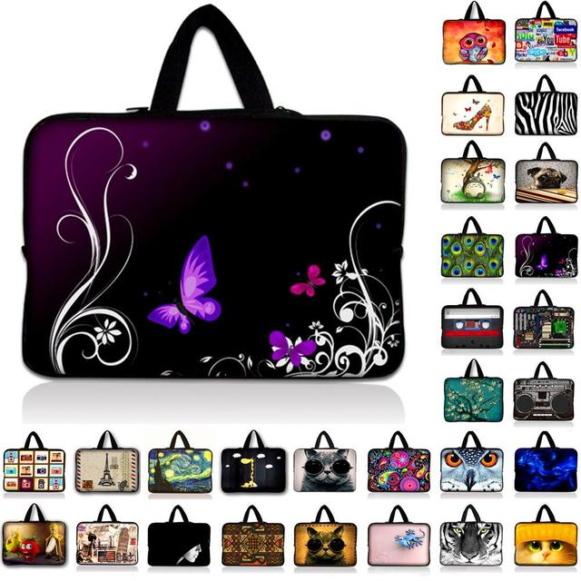 7 10.1 12 13 13.3 14 15.4 15.6 17.4 17.3 inch Butterfly laptop bag netbook sleeve case For Macbook Asus Acer HP Dell
