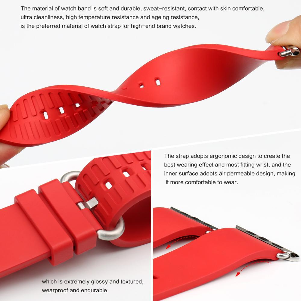 MAIKES Armband für Apple Uhrenarmbänder 42mm 38mm Serie 4 3 2 1 - Uhrenzubehör - Foto 4
