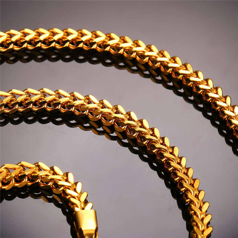 U7 Цепи Ожерелье На Шею Для Мужчин Ювелирные Изделия Оптом Золотой/Серебряный Цвет Колос Цепочки Чокер N435