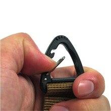 Nuevo accesorio de escalada mosquetón, mochila táctica de nailon de alta resistencia, gancho para llave, hebilla, sistema colgante, hebilla para cinturón