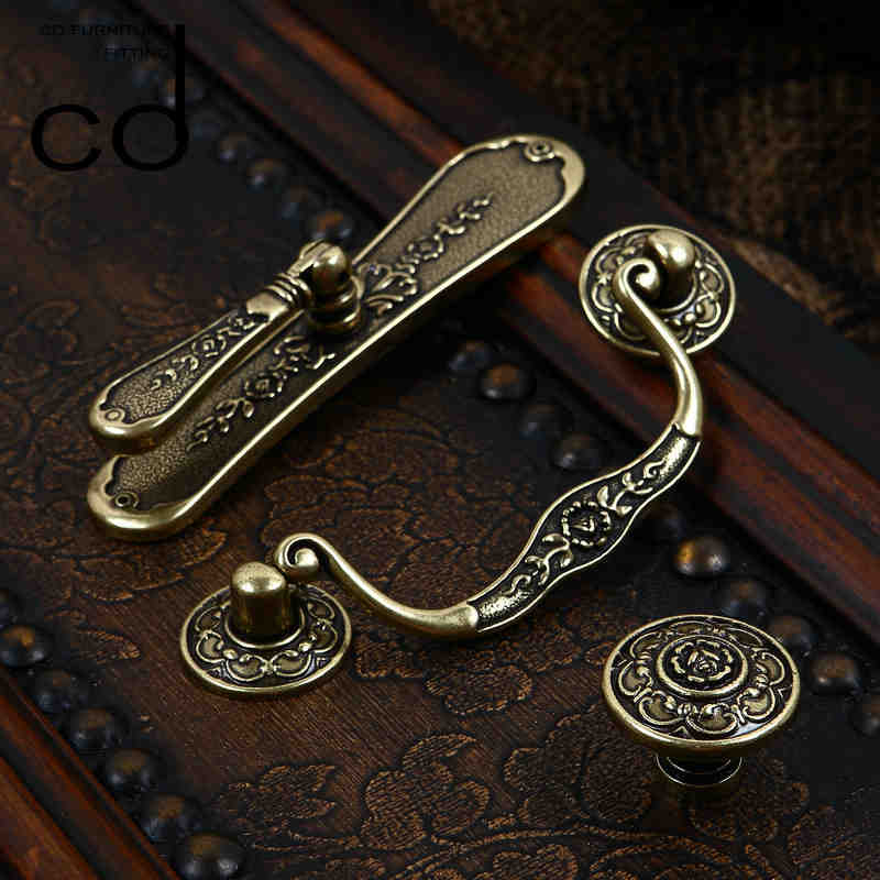 1pcs Antique Door Pulls Knobs Cabinet Kitchen Dresser Drawer Handles,96mm  Hole Spacing, Zinc Alloy In Cabinet Pulls From Home Improvement On  Aliexpress.com ...
