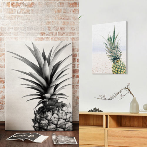 Modern Abstract Unframed Canvas Print Painting Pineapple Picture