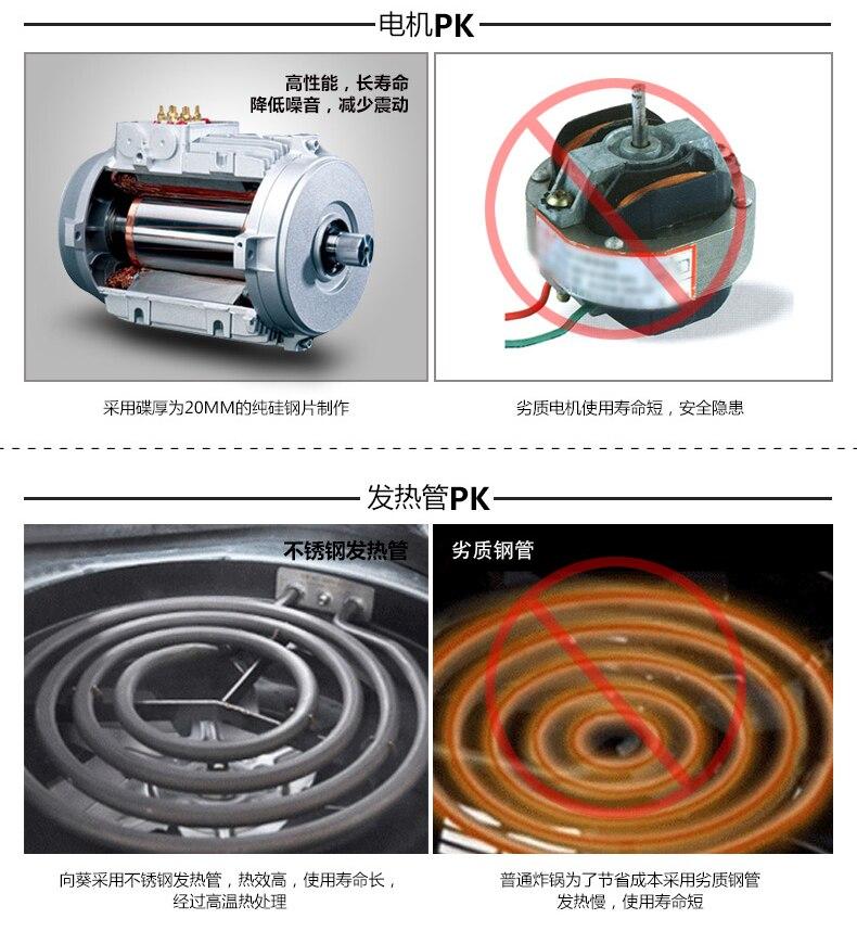 Wuxey интеллектуальные электрические глубокий Воздух Фрайер Многофункциональный 3.2l высокое Ёмкость электрическая фритюрница без дыма дома машины жарки