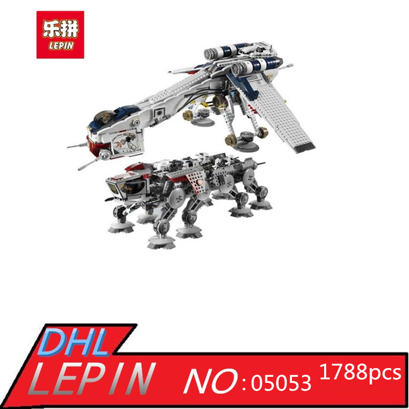 Lepin 05053 Genuine Star Series War The Republic Dropship Set Building Blocks Bricks Children Toys 10195 Educational Gifts
