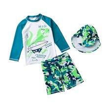 Kids Boys Swimwear Childrens Swimming 2019 Cartoon Print Dinosaur Swimsuit Baby Beachwear Clothes