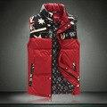 Outono e inverno Liling gilet 5XL tamanho grande fino de algodão sem mangas colete outerwear Homens da moda