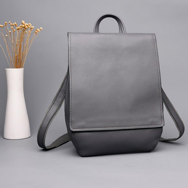 Mode homme sacs à dos en cuir véritable affaires décontracté hommes sacs à bandoulière voyage sac à dos pour femmes sacs d'école pour filles garçons - 5