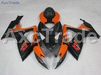 GSX-R النارية fairings لسوزوكي gsxr 600 750 k6 gsxr600 gsxr750 2006 2007 حقن abs البلاستيك هدية هيكل السيارة مجموعة البرتقال