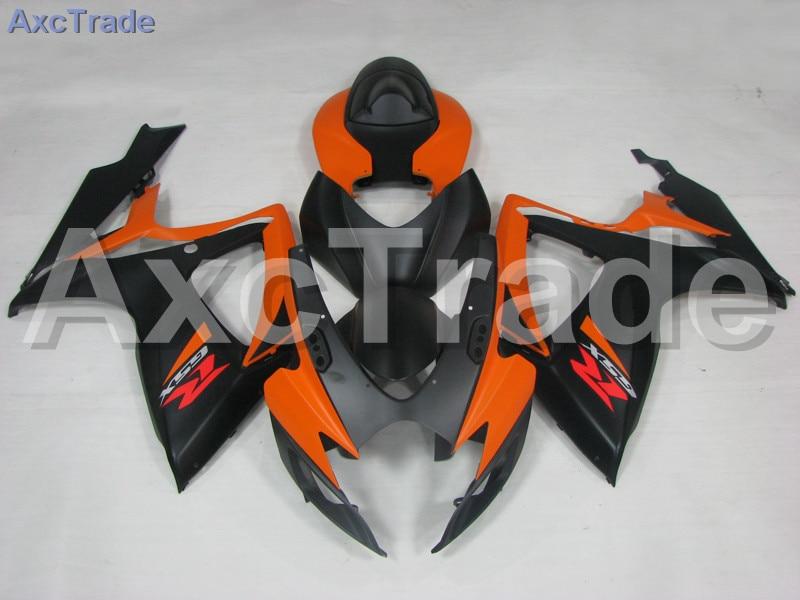 Мотоцикл Обтекатели для Suzuki GSXR системы GSX-Р 600 750 GSXR600 GSXR750 2006 2007 К6 ABS пластичная впрыска Обтекателя кузова комплект оранжевый