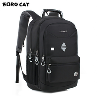 High Quality 2017 KOKOCAT New Fashion Men Shockproof High Capacity Laptop Bag Men 18 Inch Backpack