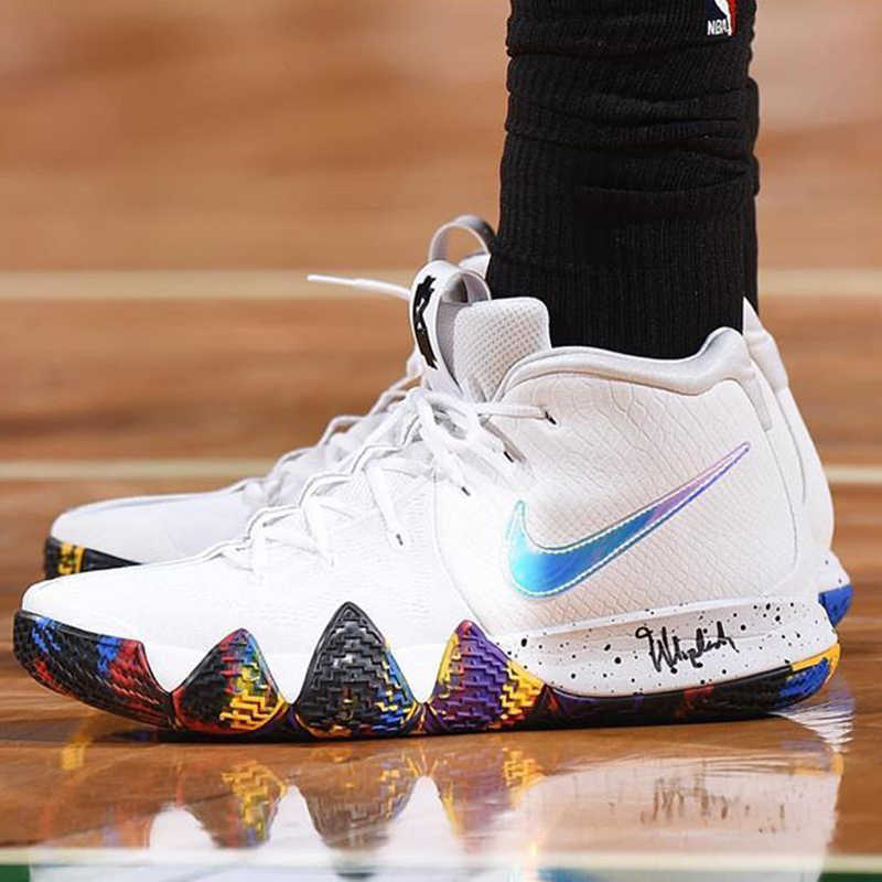 huge selection of 2bf11 b6c35 Nike Kyrie 2 EP Irving 4th Generation Men's Basketball Shoes Sneakers  Athletic Designer Footwear 2018 New Arrival 943807-100