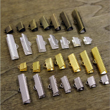100pcs 6/8/10mm Iron Ends Fastener Clasps Cord or Ribbon Connect Clasps Jewelry Accessories fermoir sac chiusure per borse Z79