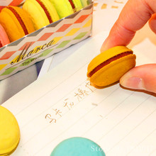 Fast Shipping 5pcs box Lovely Dessert Macaron Eraser Gift Box Toys font b Action b font