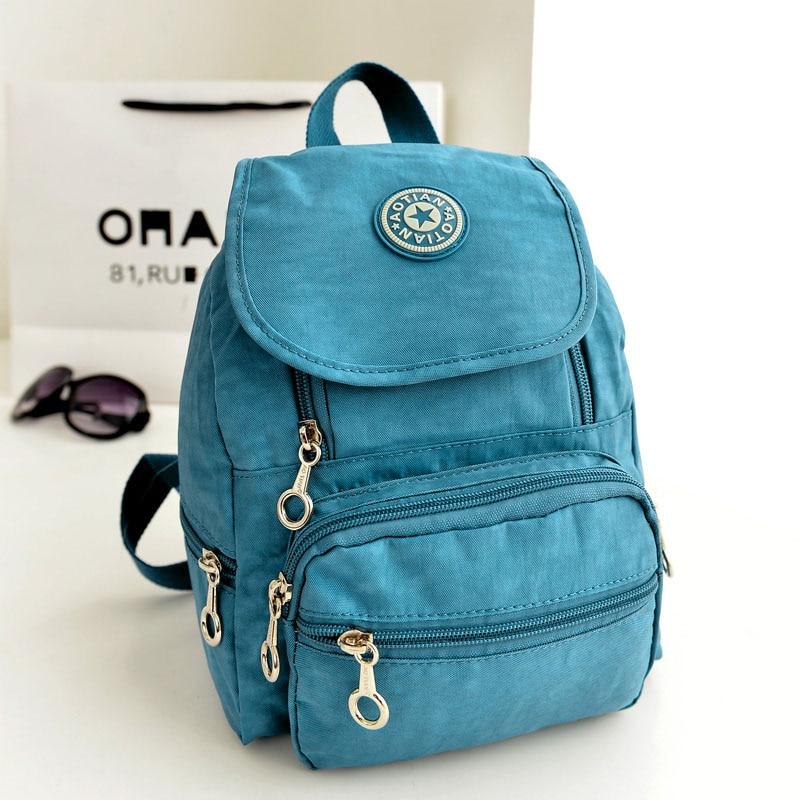 2020 New Arrivel Women Backpack Nylon Leisure Double Shoulder Bag Rucksack School Satchel Casual Bag Bookbag Mochila Feminina