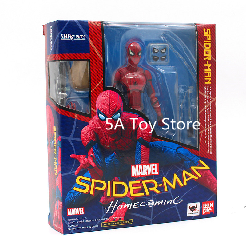 SHFiguarts Spiderman Variant Spider-Man: Homecoming Variable Spider Man PVC Action Figure Collectible Model Doll Toy 15cm