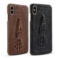 Coque arrière de luxe en peau de vache 3D pour iPhone 7/8 Plus/iX/XS/XR/XS MAX/11/11Pro étui de téléphone portable brillant en crocodile
