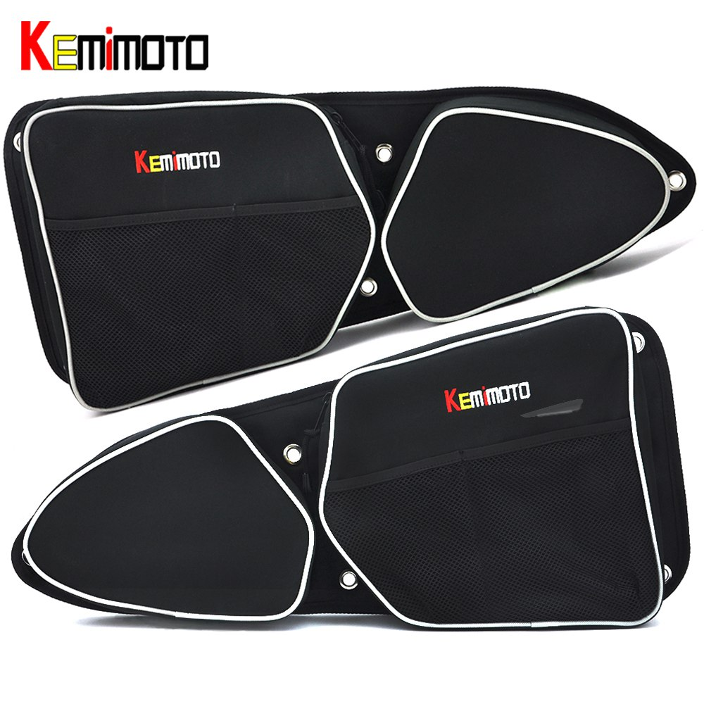 KEMiMOTO for Can-Am Commander 1000 4x4 for Polaris RZR XP 1000 EPS UTV Passenger Driver Side Door Bag Side Storage Bag Knee Pad polaris am pilgrim