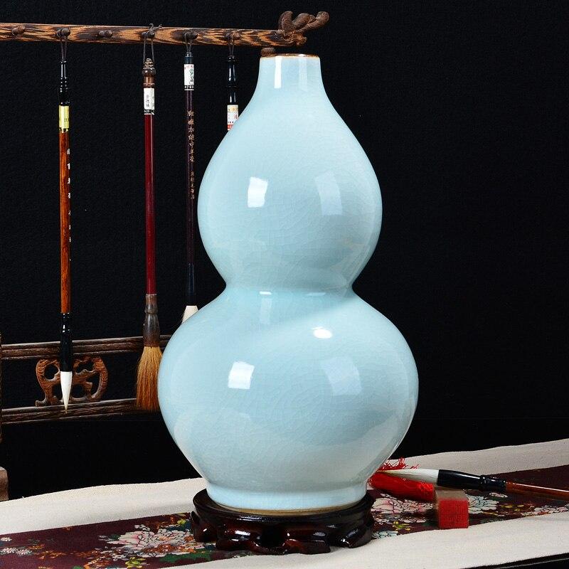 Ceramic vase Lucky Hulu Antique kiln crack glaze Modern fashion crafts Ornaments Home DecorationsCeramic vase Lucky Hulu Antique kiln crack glaze Modern fashion crafts Ornaments Home Decorations