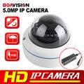 H.265 HD 5MP POE IP Câmera Dome Ao Ar Livre 2592*1944 Lente 3.6mm Câmera de Segurança CCTV de Vigilância de Vídeo Em Tempo Real Visão noturna