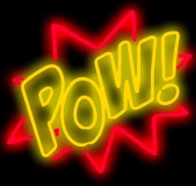 Custom POW! Glass Neon Light Sign Beer Bar