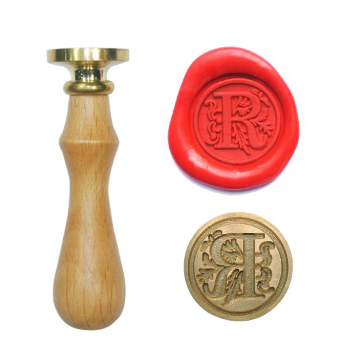 Initial Alphabet Letter R Wax Seal Stamp for Envelope Card Crafts