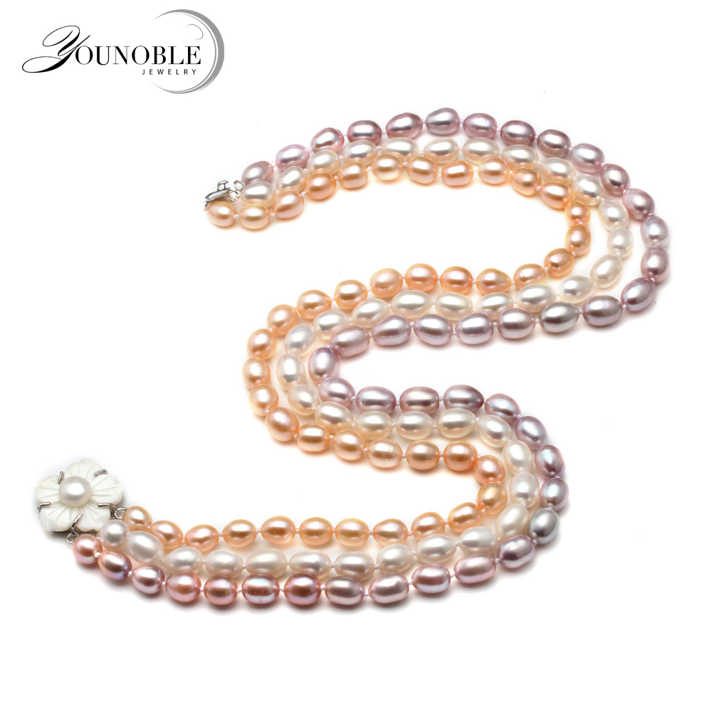Multi Row Pearl Necklace: Aliexpress.com : Buy Beautiful Multi Layer Necklace,3 Rows