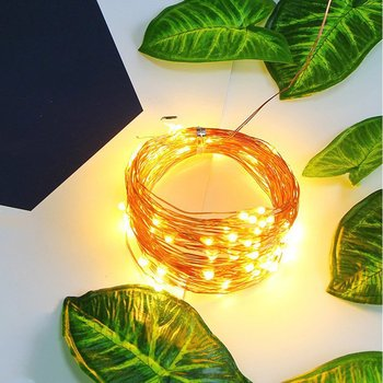 2M 20 LED String Plum Copper Wire Fairy Lights Battery Xmas Party Decor Lamp Party Year Wedding Garden Decor Drop Shipping