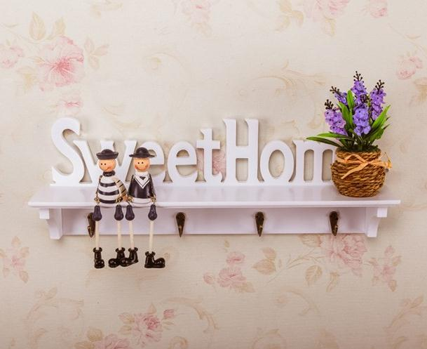 wooden letters hollow storage white wall hook key holder wood rh aliexpress com Michaels Decorative Letters Decorating with Letters and Numbers On a Wall