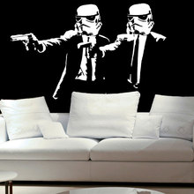Star Wars movie character  Art Deco Wall Sticker Vinyl Anime Movie Fans Home Decor DY12