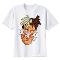 Xxxtentacion T Shirt Men Jahseh Dwayne Onfroy Music Rapper T Shirts Tee White Cartoon Male Tshirt