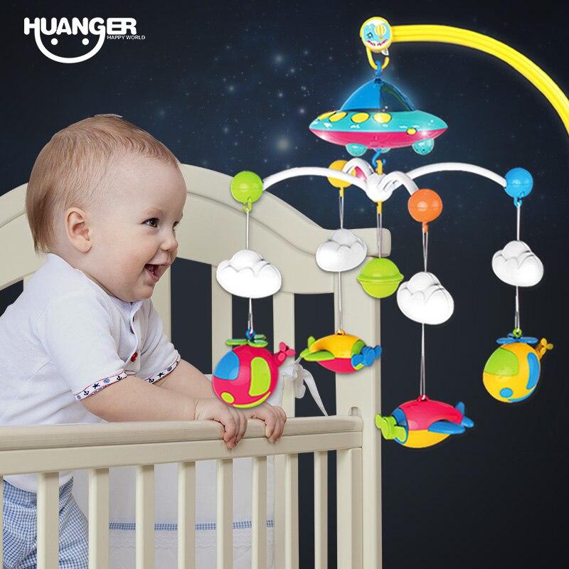 Huanger детская кровать колокол От 0 до 1 года новорожденных От 0 до 12 месяцев игрушка Вращающийся Музыка висит погремушку Кронштейн Набор детск...