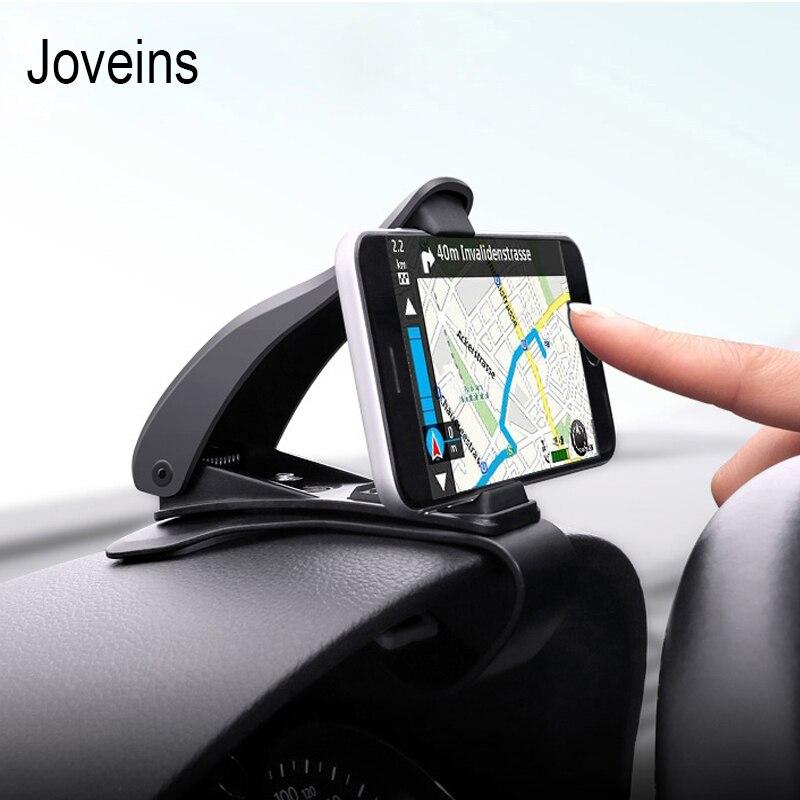 JOVEINS Universal Adjustable Car Phone Holder Dashboard Mount Phone Holder for Mobile Cell Phone GPS Stand Clamp Clip Bracket