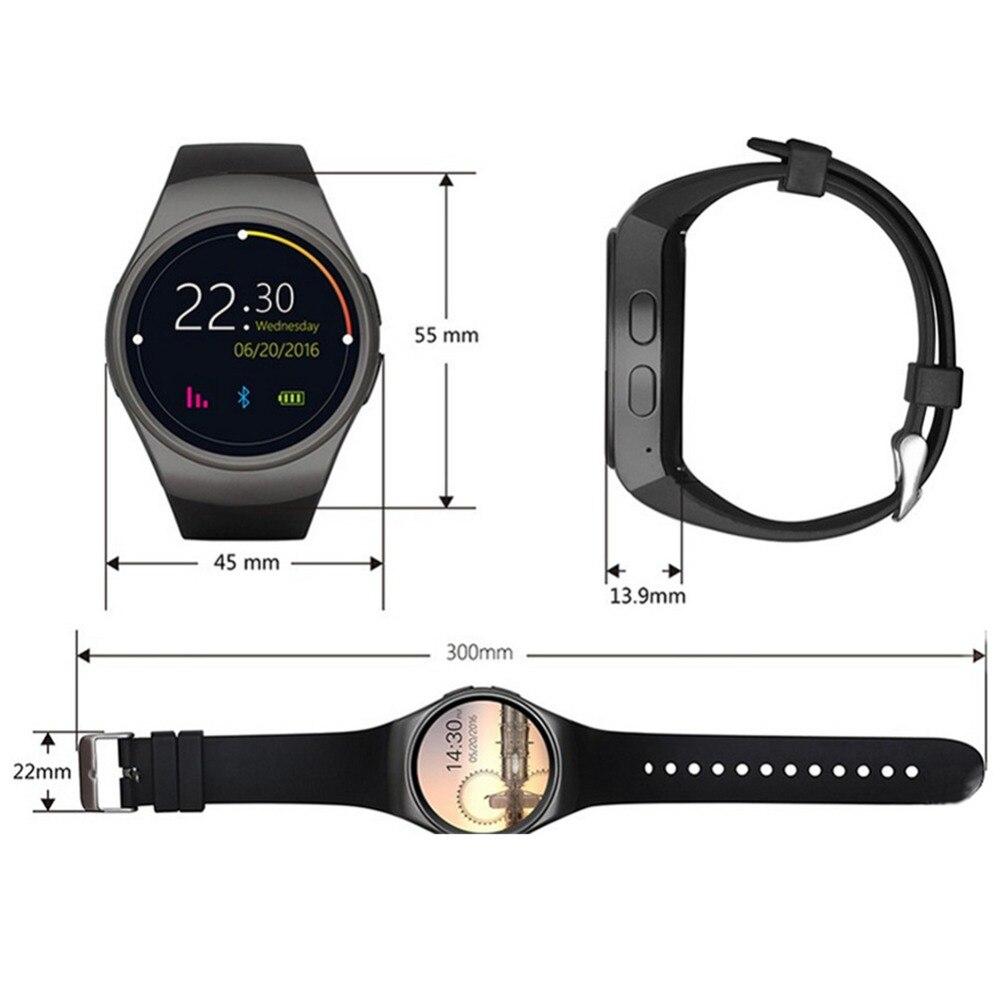 Montre intelligente hommes KW18 Bluetooth montres intelligentes fréquence cardiaque podomètre SIM Smartwatch réponse appel TF téléphone montre pour Android IOS - 6