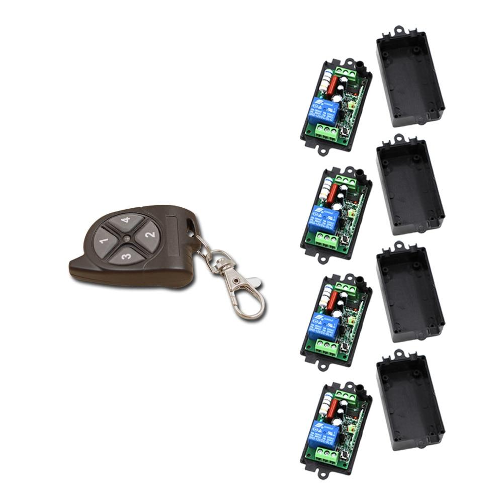 Special Design AC110V 220V 1CH RF Wireless Remote Control Switch System Transmitterwith 4pcs Receiver for Intelligent Home ac110v 220v 240v intelligent digital rf