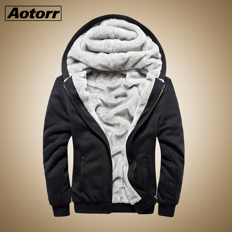 Men Thick Hoodies Jacket Coat Streetwear Male Joggers Sportwear Jacket Mens Overcoat Fleece Winter Hoody Windbreaker Outwear