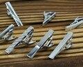 4cm New Simple Metal Silver Tie Clip For Men Wedding Necktie Tie Clasp Clip Gentleman Tie Bar Crystal Tie Pin For Mens Gift