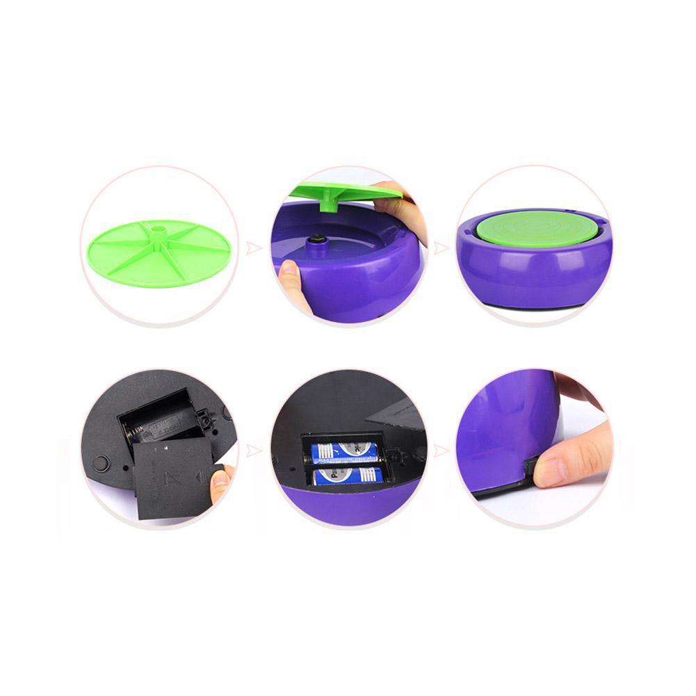 LeadingStar enfants mignon roue de poterie en céramique électrique avec des Kits d'argile bricolage Pigment dispositif enfants cadeau - 3