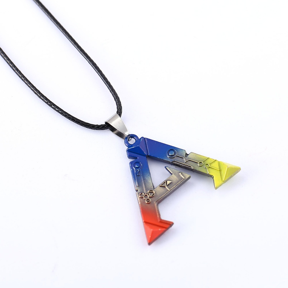 10/pcs/lot ARK Survival Evolved Necklace Hot Game Pendant Necklace 2016 Friendship Men Women Jewelry Choker Accessories