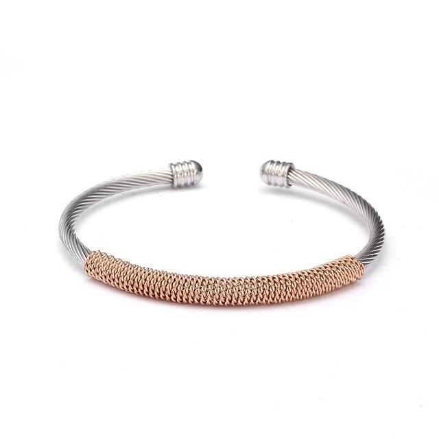 Unique Tubular Open Braided Female Cuff Bracelets Fashion Mesh Stainless  Steel Charm Bracelet   Bangle For 0afa14ce0