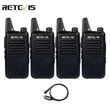 4pcs Walkie Talkie Retevis RT22 2W UHF 400-480MHz VOX Extreme Ultra-thin Handheld Ham Radio Hf Transceiver