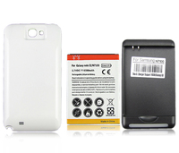 For Samsung Galaxy Note 2 II N7100 High Quality 6500mAh Extended Battery With Back Cover And