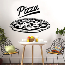 Lovely pizza Wall Art Decal Decoration Fashion Sticker Kids Room Nature Decor Creative Stickers