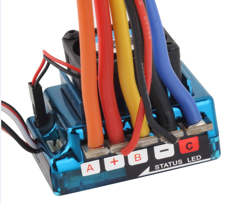 Image 2 - New 120A Sensored Brushless ESC Speed Controller T plug for 1/8 1/10 1/12 RC Car Crawler Wholesale-in Parts & Accessories from Toys & Hobbies
