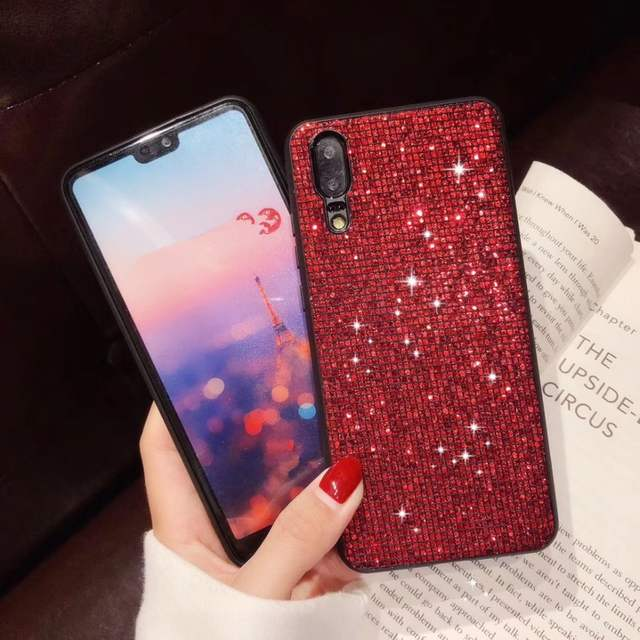US $1 71 15% OFF|Bling diamond Glitter case For Huawei P20 Pro P10 Plus  Rhinestone Cover For Huawei Honor 8X honor 10 mate 20 mate 10 Lite  nova3i-in