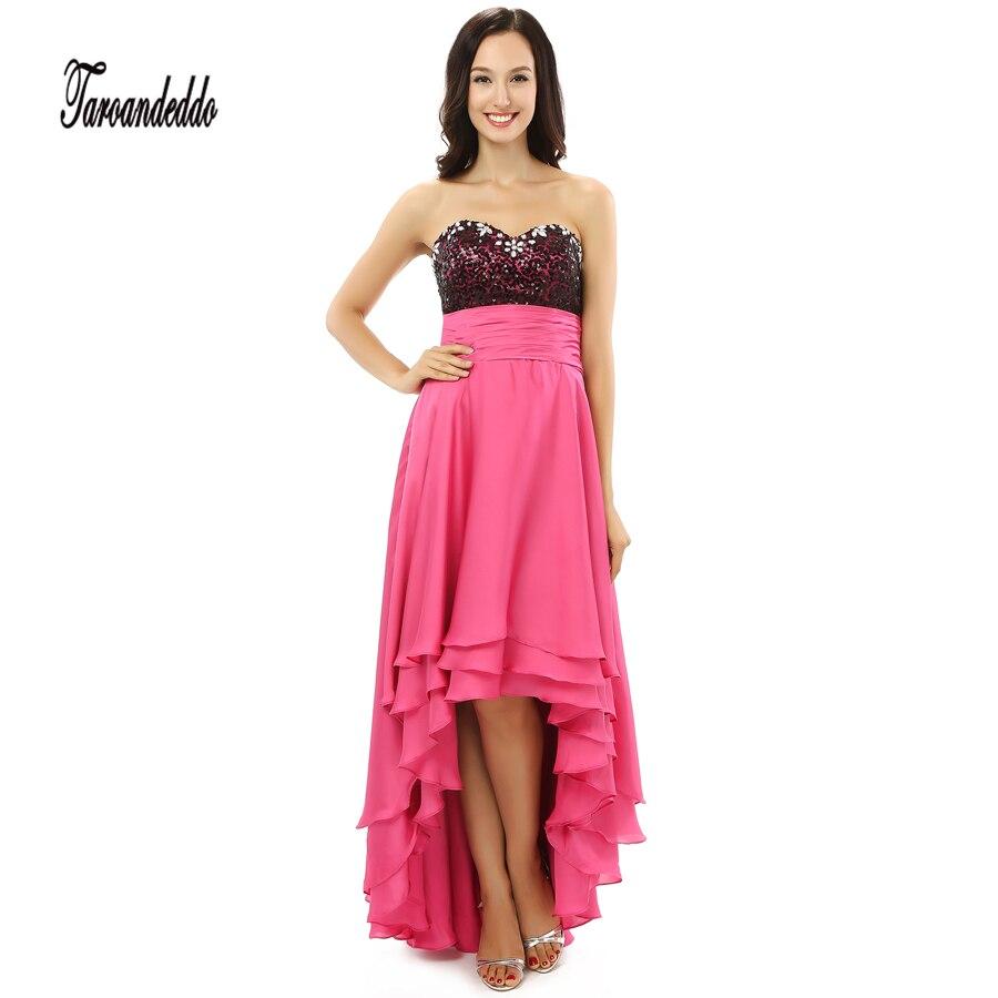 ᗛNegro sequin Top alto bajo rebordear vestido de dama con 3 capas ...
