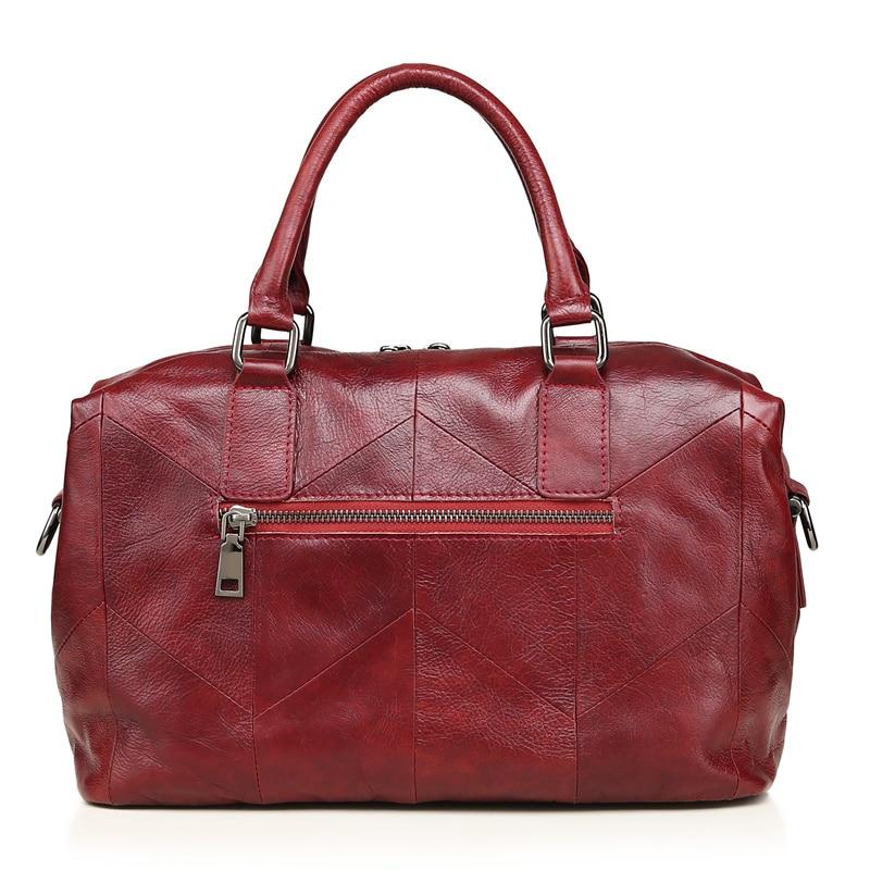 Genuine Leather Women Handbag Casual Handbags Top Quality Double Zipper Pocket Boston Shoulder Crossbody Bag Woman Bags 2018