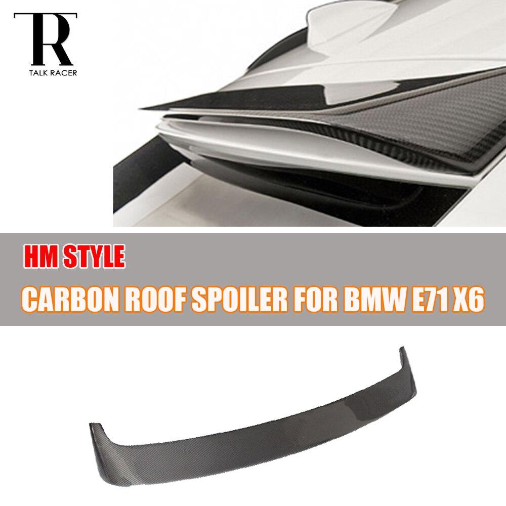 Aile de becquet de fenêtre de toit arrière en Fiber de carbone X6 pour BMW E71 X6 2008-2013 aile de lèvre de toit de Style HM
