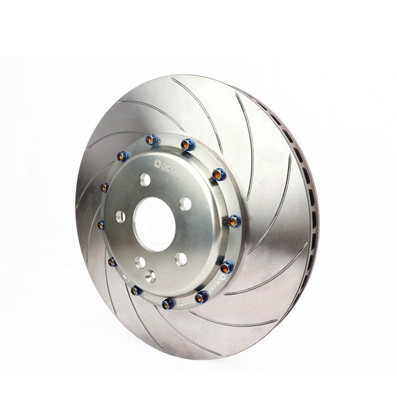 Disques de frein DICASE haute performance 330mm à rainures courbes pour CP9200 rouge grand kit de frein adapté pour Audi A4 B5 17 jante